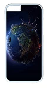 iPhone 6 Plus Cases, ACESR Plastic Hard Case Cover for Apple iPhone 6 Plus (5.5inch Screen) White Border The Earth