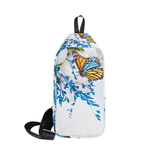 Hombre Coosun Mochila De Y Mujer Para Diseño Mariposas Flores EBOqBw