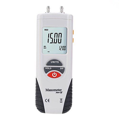 - Portable LCD Digital Manometer Differential Air Pressure Meter Gauge PSI Instrument Data Hold