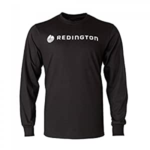 Redington Fly Fishing Logo Tee Stealth jet Long Sleeve Shirt, Black, XX-Large