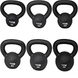 Cast Iron Kettlebell Weights Set 5 10 15 20 25 30 lb Solid Titan Fitness Fit
