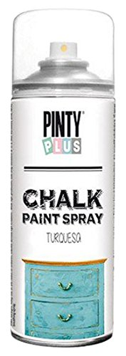 PintyPlus 797 Chalk Finish Spray Paint, 400 mL, Turquoise (Spray Furniture Colors Paint)