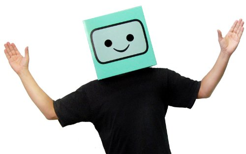 Cardboard Box Costumes Adults (Adventure Time Beemo Costume Box Head)