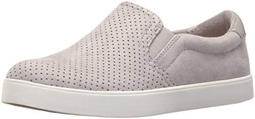 Dr. Scholl's Shoes Women's Madison Sneaker, Grey Cloud Microfiber Perforated, 7.5 M US