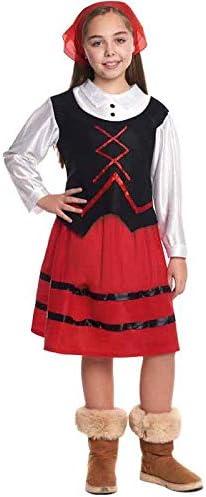 Disfraz de Pastora niña infantil para Navidad (1-2 años): Amazon ...