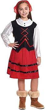 Disfraz de Pastora niña infantil para Navidad (1-2 años): Amazon.es ...
