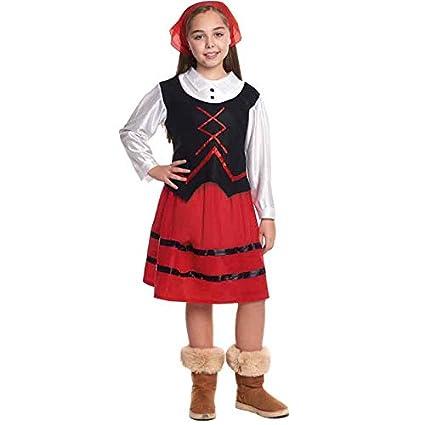 Disfraz de Pastora niña infantil para Navidad 4-6 años