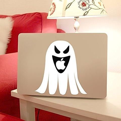 Macbook Ghost Decal for Apple Macintosh Laptop Computers, Halloween or Spooky Theme Vinyl Design (Macintosh Repair)