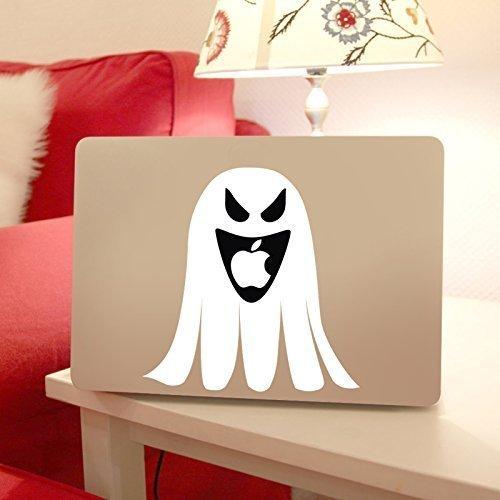 Macbook Ghost Decal for Apple Macintosh Laptop Computers, Halloween or Spooky Theme Vinyl Design]()