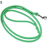 cymbilanfranX 45 Inch Pet Dog Faux Leather Rope Training Leash Lead Strap Adjustable Traction