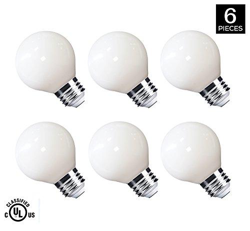 LED Light Bulbs 40 Watt Replacement, G16.5 3.5W Energy Saving LED Bulb, E26 Socket,MRDENG Warm White Globe Light Bulb (2700K) Pack of 6