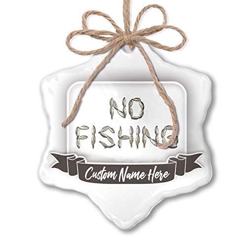 NEONBLOND Create Your Ornament No Fishing Fish Fishing Personalized