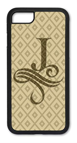 Monogrammed iPhone 7 & 8 Case Slim Fit - Hard Shell Plastic - Full Protective Cover for iPhone 7 & 8 - Monogram Letter J