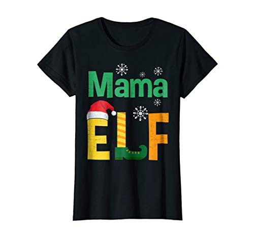 Womens christmas shirts mama elf shirt xmas gift for mom mother ()