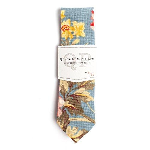 Sky Blue Floral Necktie