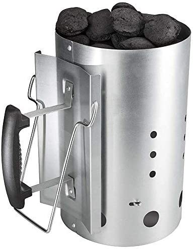Denmay Arrancador de chimenea de carbón vegetal con asa de seguridad para Weber 7416, Camping y barbacoas, Columna de combustión más ligera con carbón ...