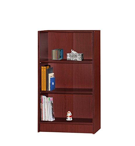 Hodedah 3 Shelve Bookcase, Mahogany