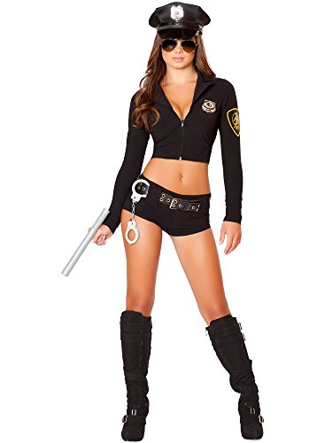 Roma Costume Women's 7 Piece Officer Hottie, Black, Small/Medium]()