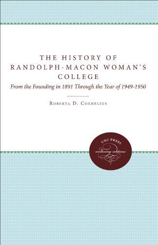 History of Randolph-Macon Woman's College Pdf