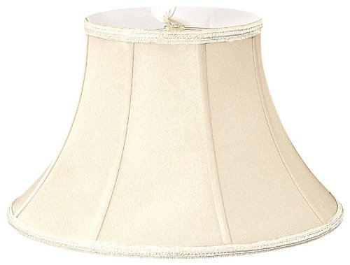 Royal Designs Shallow Bell Designer Lamp Shade, Eggshell, 7.5 x 14 x 9