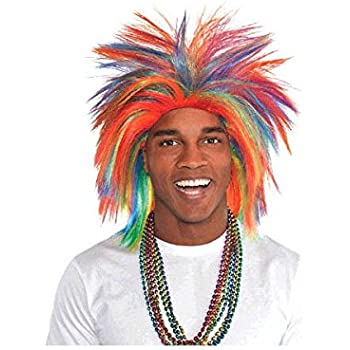Game Ready Team Spirit Party Crazy Wig Accessory, 1 Pieces, Made from Polyester, Birthday/Celebration, by Amscan