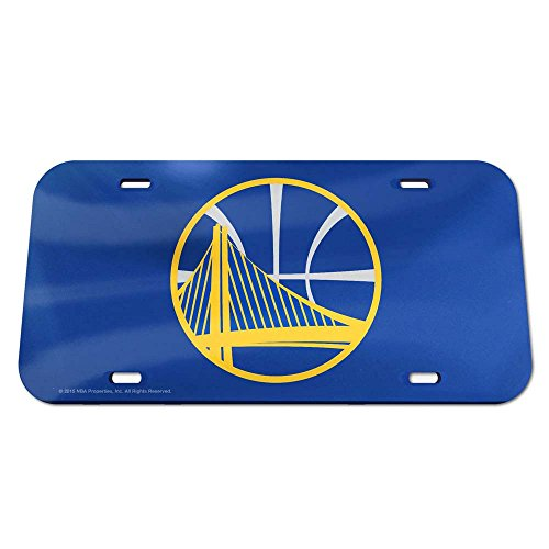 WinCraft NBA Golden State Warriors Crystal Mirror License Plate, Team Color, One Size by WinCraft