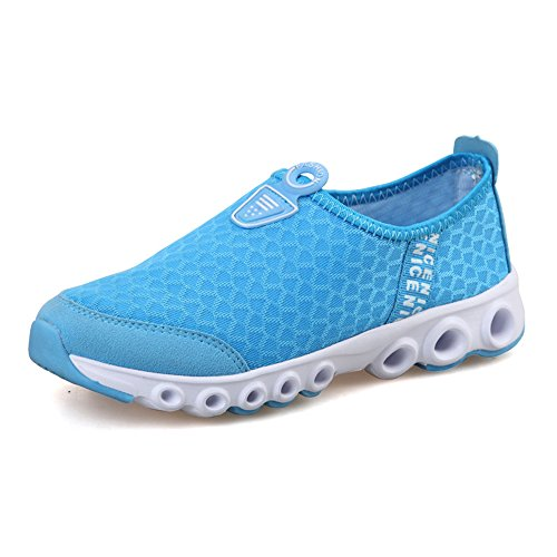 JACKSHIBO Light Blue Lightweight Quick Breathable Shoes Sneaker Shoes Casual Women Mesh Drying rrqOA