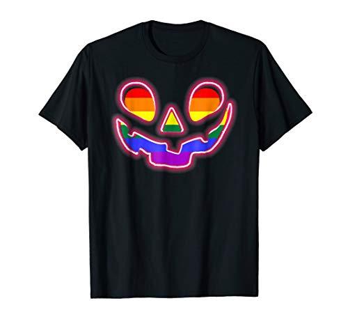 LGBT Jack O' Lantern Gay, Pride Shirt Halloween Pumpkin Tee
