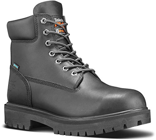 Timberland PRO 6-inch Direct Attach Men's Steel Toe, EH, Slip Resistant, Waterproof Boot