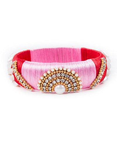 554c4f705a3 Buy Traditional Silk Thread Pink Bangle for Women and Girls Online at Low  Prices in India   Amazon Jewellery Store - Amazon.in