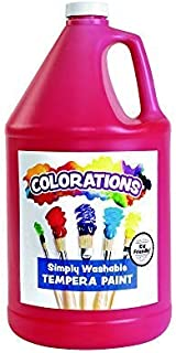 product image for Colorations Simply Washable Tempera Paint, Red(1 Gallon) –Washable from Skin, Fabrics, Surfaces –Vibrant Color, Rich Coverage -Dries to a Matte Finish –, Economical Classroom Paint