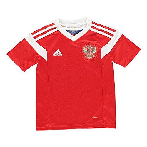 adidas 2018-2019 Russia Home Football Soccer T-Shirt Jersey (Kids) (Best Russian Soccer Team)