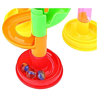 VIPAMZ Marble Run Super Set 105pcs Railway Games STEM Learning Toy Gift for Kids 4 5 6 + Year Old Boys Girls