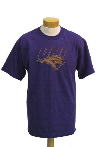 NCAA Men's Northern Iowa Panthers Biggies Short Sleeved T-Shirt (Purple, Large)