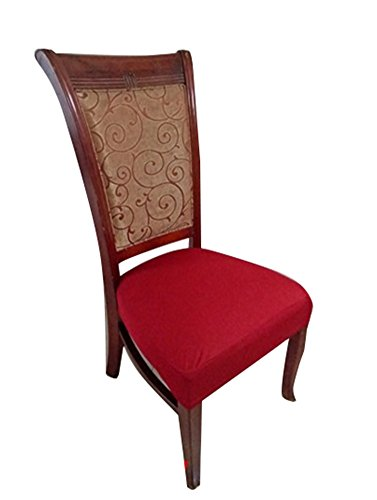 Deisy Dee Dining Chair Cover Protector Removable Washable for Hotel Dining Room Ceremony Chair Slipcovers C101 (red)