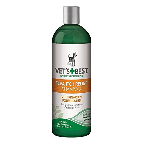 Vet's Best Flea Itch Relief Dog Shampoo | Flea Bite Relief for Dogs | Relieves Irritation and Itching from Flea Infestations | 16 Ounces