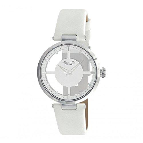 Kenneth Cole Reloj Análogo clásico para Mujer de Cuarzo con Correa en Cuero KC2609: Amazon.es: Relojes