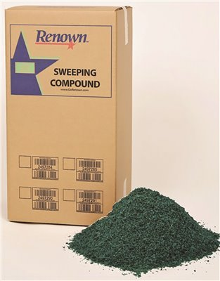 Renown GIDDS2-2497285 Sweeping Compound Oil Base Box with Grit, 100 lb, - Compound Oil Sweeping Grit Base