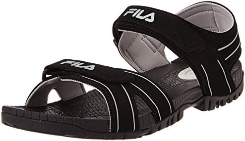 f4136a24441e Fila Men s Connector Black and Light Grey Sandals and Floaters -10 UK India  (