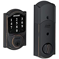 (New Model) Schlage Connect Camelot Touchscreen Deadbolt with Z-wave Technology and Extra Key BE468-2K (Aged Bronze)