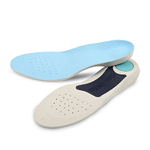 Heryaa Orthotic Insoles for Shoes Man and Women Flat Foot Insoles Arch Support Cushion Shock Absorption Feet (1 Pair) (XL: Men's (9-14.5))