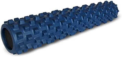 RumbleRoller – Full Size 31 Inches – Blue – Original – Textured Muscle Foam Roller – Relieve Sore Muscles- Your Own Portable Massage Therapist – Patented Foam Roller Technology