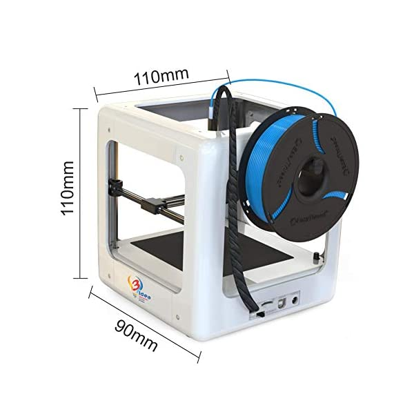 3IDEA Easythreed Nano Mini Fully Assembled 3D Printer with 90 * 110 * 110mm Printing Size (White)