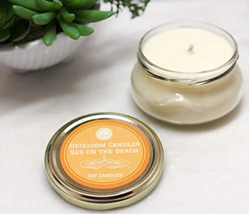 Cranberry Pineapple Scented Soy Candle Handmade, Sex on the Beach - 6oz