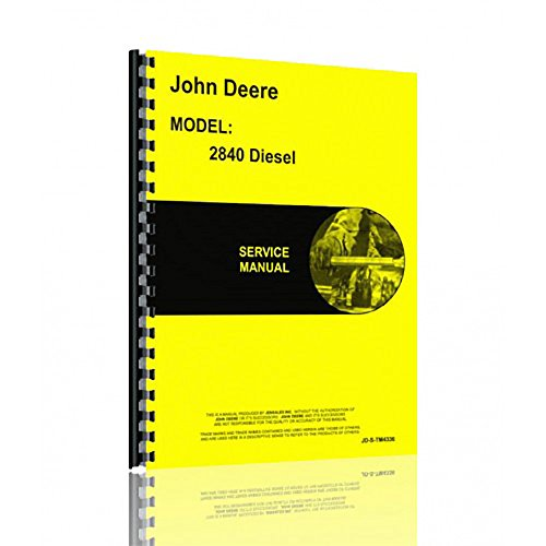 New Tractor Service Manual for John Deere 2840