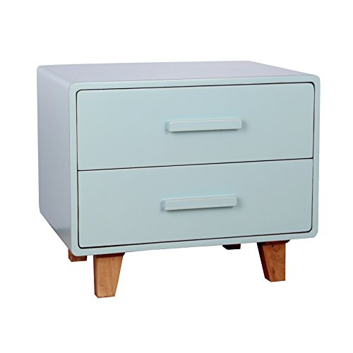 Porthos Home Juniper 2 Drawer Nightstand, Aqua by Porthos Home