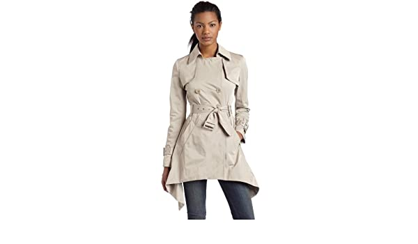 Ophelia Double-Breasted Trench Coat Classic Beige Ruffled-Tiered-back Jacket 2