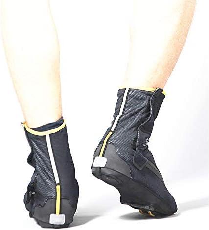 サイクリングシューズカバー 男性と女性の冬暖かい肥厚の靴カバー自転車マウンテンロードバイク反射靴カバー 防水レインブーツシューズカバー (Size : M)