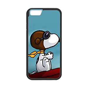 iPhone 6 Plus 5.5 Inch Cell Phone Case Black Charlie Brown and Snoopy Xwuz