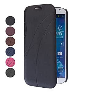 PEACH ships in 48 hours Elegant Design PU Leather Case with Card Slot for Samsung Galaxy S4 I9500 (Assorted Colors) , Black